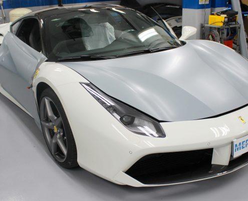 Car wrapping Ferrari 488