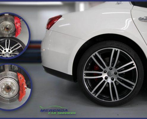 verniciatura pinze freni e cerchi Maserati Ghibli