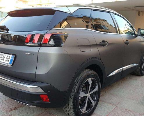 posteriore desro Peugeot 3008 Car wrapping pellicola nera