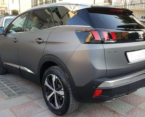 posteriore sinistro Peugeot 3008 Car wrapping pellicola nera