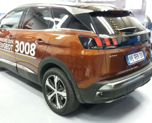 posteriore sinistro peugeot 3008 senza Car wrapping