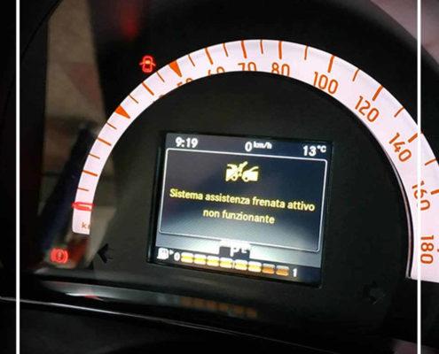 Calibrazione Radar Anticollisione su Smart W453