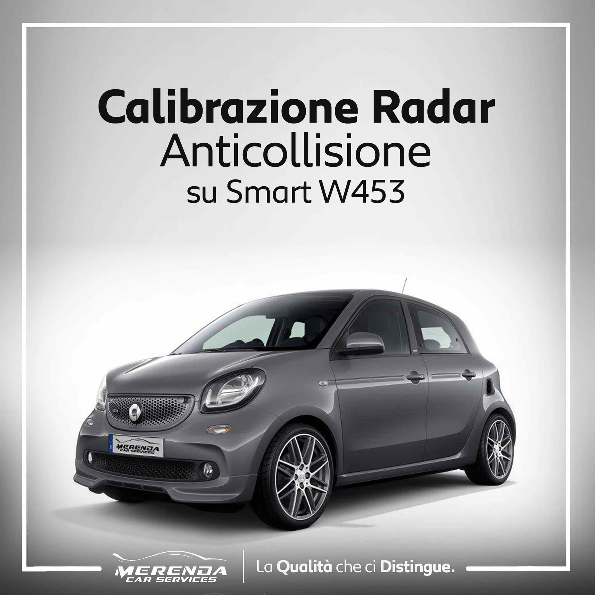 CALIBRAZIONE RADAR ANTICOLLISIONE SU SMART W453
