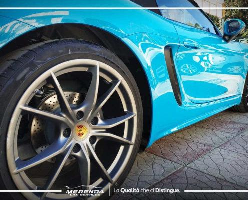 Lucidatura Porsche 718 boxster Blu Miami