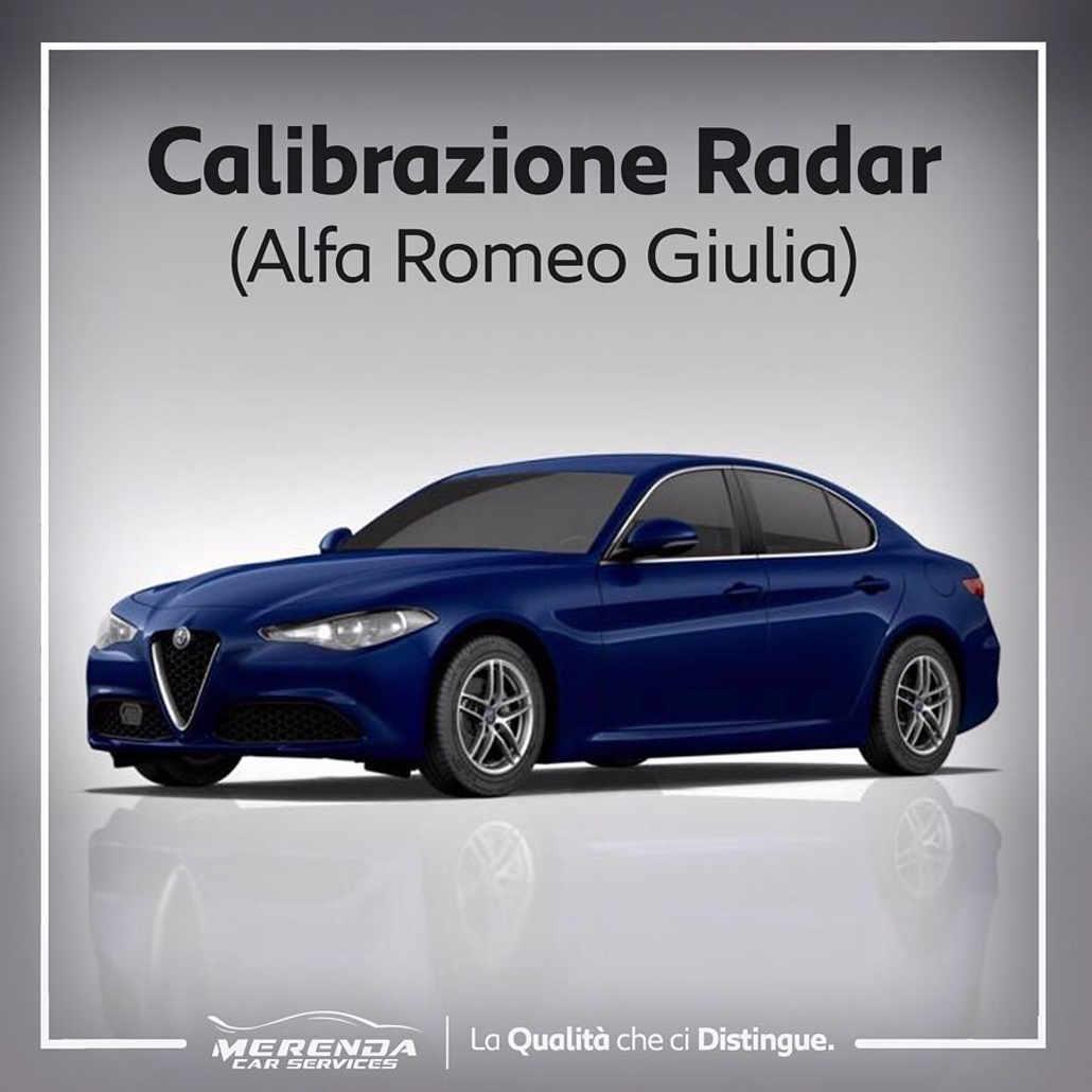 Calibrazione Radar su Alfa Giulia