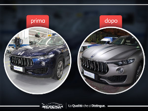 CAR WRAPPING TOTALE MASERATI LEVANTE