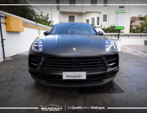 Wrapping Nero Opaco su Porsche Macan S