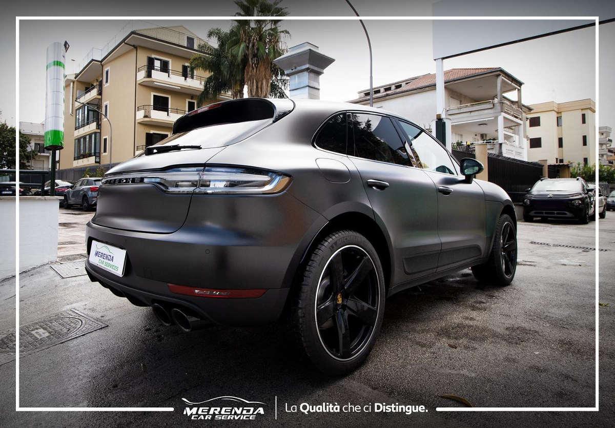 Wrapping Totale Nero Opaco Porsche Macan S