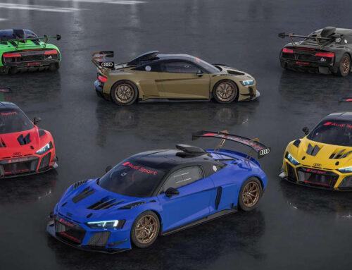 Audi presenta sei R8 LMS GT2 con verniciatura speciale